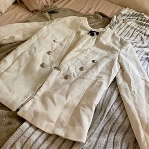 H&M CREAM BLAZER with silver buttons